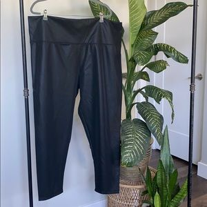 Part & Parcel Black Leather-look Leggings